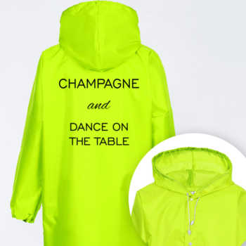 Champagne and dance on the  table
