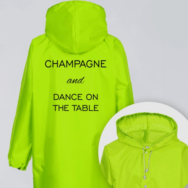 Дождевик Champagne and dance on the  table