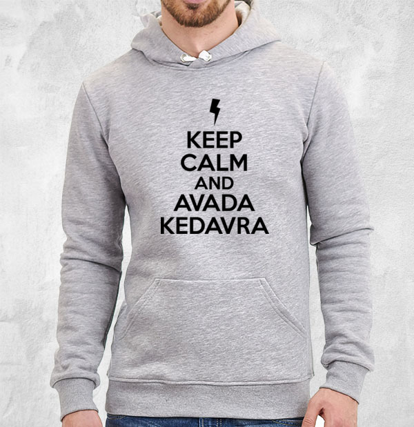 Толстовка Keep calm and avada kedavra