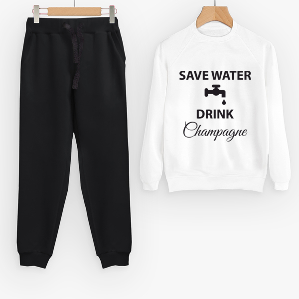 Костюм Save water drink champagne